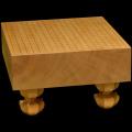 本榧足付碁盤 4寸2分(天柾) ga40020