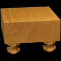 本榧足付碁盤 5寸5分(天柾) ga50039