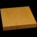 本榧卓上碁盤 1寸9分(一枚板・木裏) gb10137