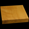 本榧卓上碁盤 2寸3分(一枚板・天地柾) gb20238