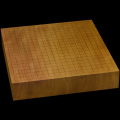 本榧卓上碁盤 2寸7分(一枚板・天地柾) gb20285