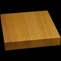 本榧卓上碁盤 2寸3分(一枚板・天地柾) gb20302