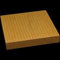 本榧卓上碁盤 2寸1分(一枚板・追柾) gb20310