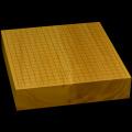 国産本榧卓上碁盤 3寸(一枚板・木裏) gb30026