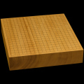 本榧卓上碁盤 3寸(一枚板・天地柾) gb30028