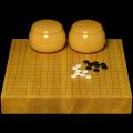 本榧2寸卓上碁盤セット(ハギ盤 特上)