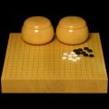 本榧2寸卓上碁盤セット(ハギ盤 極上)
