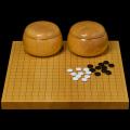 本榧1寸卓上碁盤セット(ハギ盤・特上)