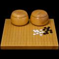 本榧1寸卓上碁盤セット(ハギ盤・極上)