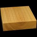 国産本榧卓上将棋盤 2寸9分(一枚板・木裏) sb20489