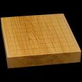 国産本榧卓上将棋盤 2寸(一枚板・木裏) sb20492
