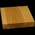 国産本榧卓上将棋盤 2寸(一枚板・木裏) sb20496