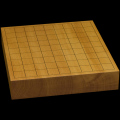 本榧卓上将棋盤 2寸3分(一枚板・天地柾) sb20573
