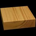 国産本榧卓上将棋盤 3寸1分(一枚板・木裏) sb30030