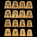 将棋駒 本黄楊(御蔵島黄楊)彫駒 水無瀬 寛月作