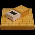 本榧1.5寸卓上将棋盤セット(ハギ盤 上)