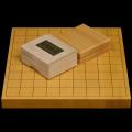 本榧1寸卓上将棋盤セット(ハギ盤 上)