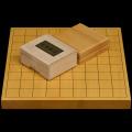 本榧1寸卓上将棋盤セット(ハギ盤 特上)