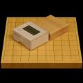 本榧1寸卓上将棋盤セット(ハギ盤・極上)