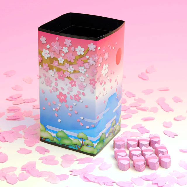 K6340 PRD.チューブ 富士と桜(桜吹雪付)