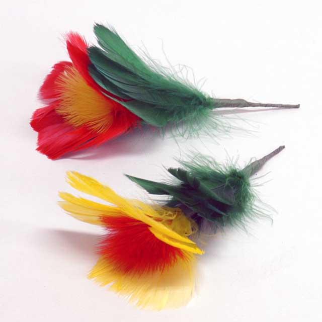 T1121A 花とスカーフ用 羽花セット