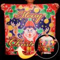 S8583 ブレンドシルク「新柄クリスマス」(特上品 Lサイズ)