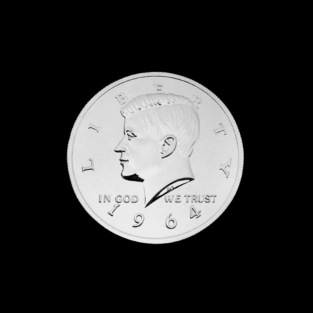 ジャンボ・クロム・ハーフ・ダラー (Jumbo Chrome Half Dollar) 〔ケネディー, 3インチ〕