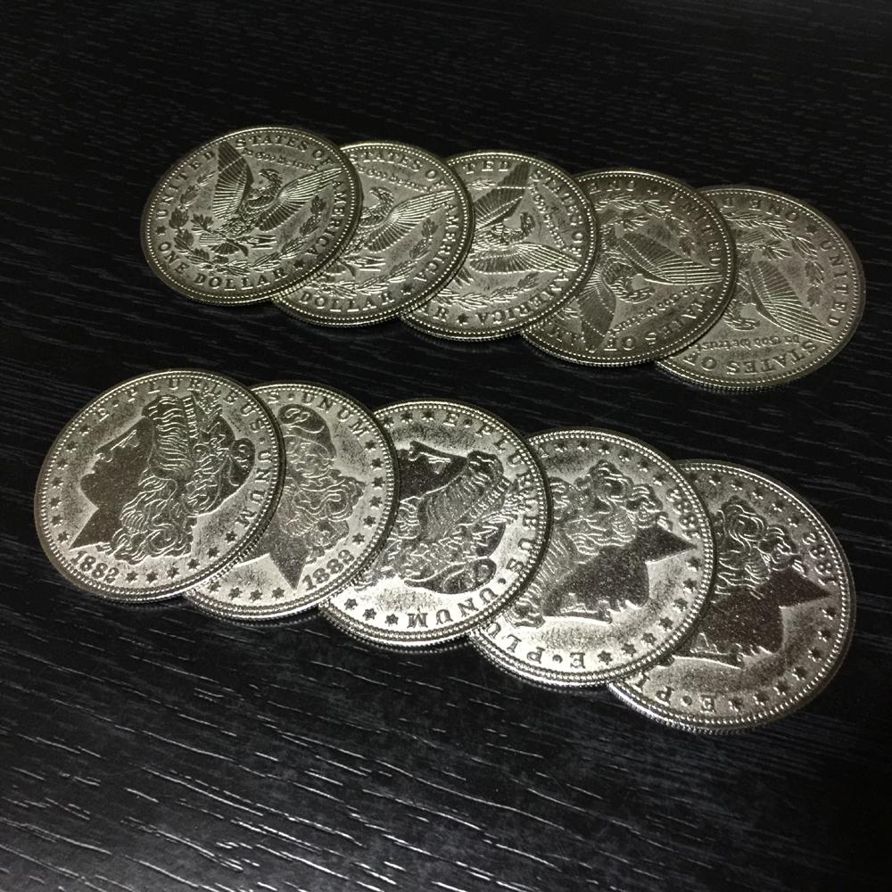 パーミング・コイン (Palming Coin)〔モルガン・ダラー, レプリカ, 10枚セット〕