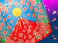 ブレンドシルク[赤富士桜]