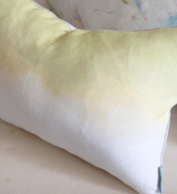 50%OFF SALE  10800yen → 5400yen  Bluebellgray Charteuse Landscape Cushion 51cm x 30cm