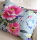 50%OFF SALE  14430yen → 7215yen  bluebellgray Teal Butterfly Cushion  61cm x 45cm