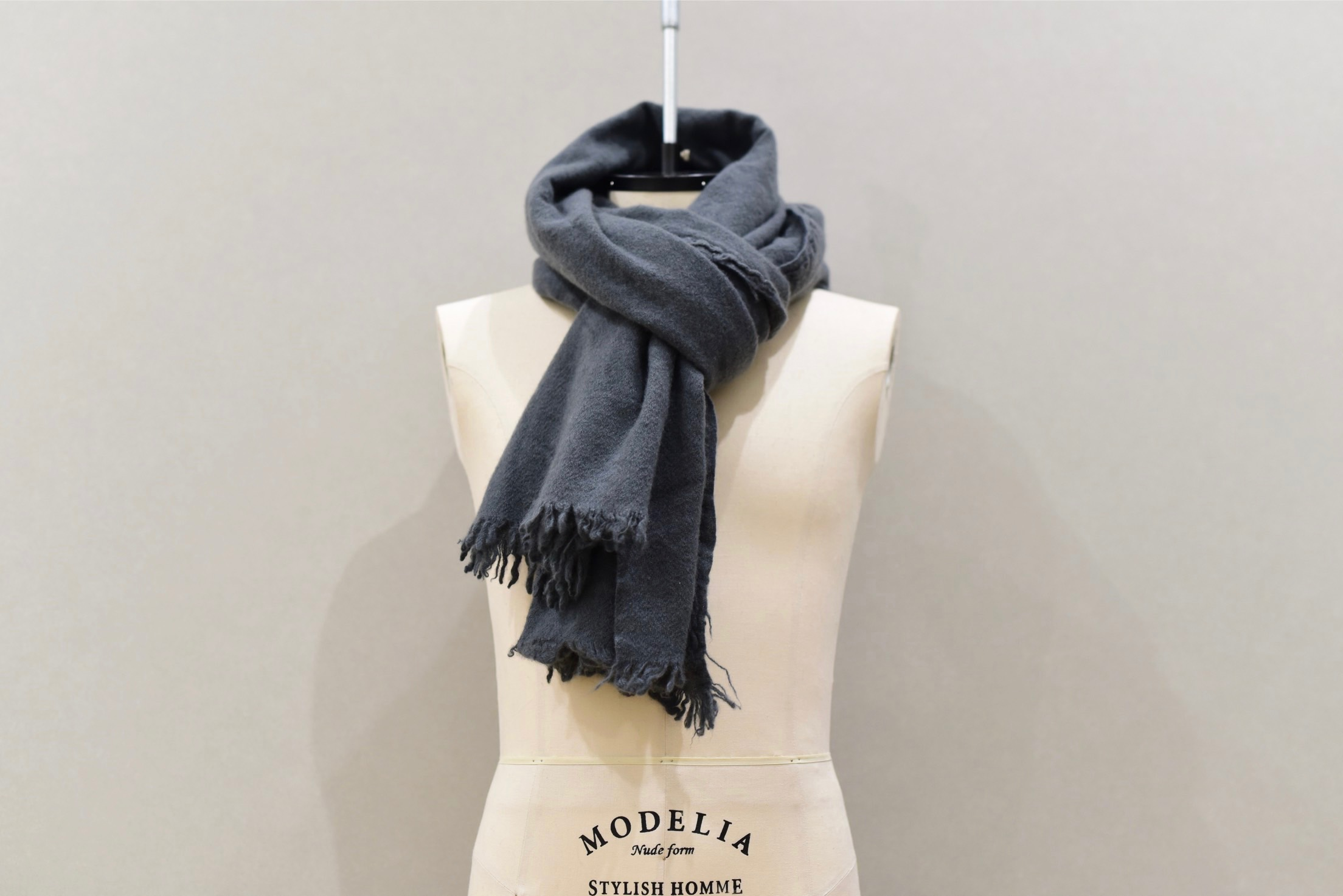 Private 02 04 Slow Cashmere Stole(gray)Vintage