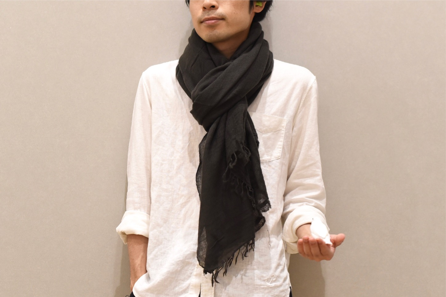 Private 02 04 Slow Cashmere Stole(anthrasite)h