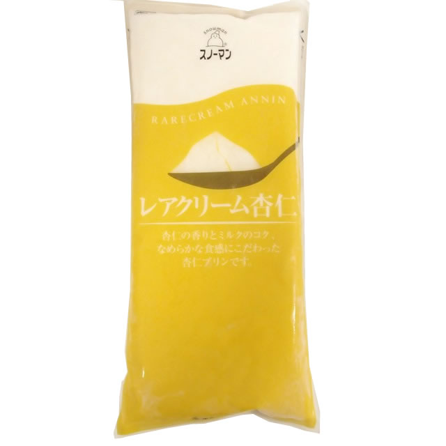 QP) レアクリーム杏仁 カットタイプ (冷凍)1kg