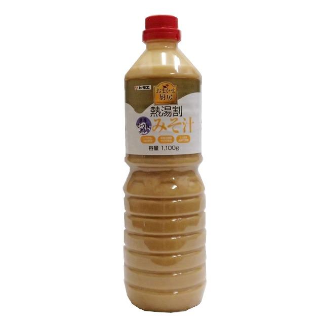 トモエ) 熱湯割だし入りみそ汁 1100g