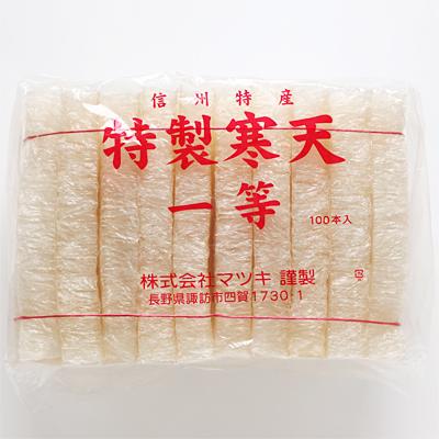日本産 角寒天バラ 100本
