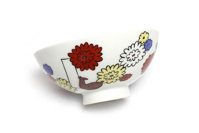 花ごはん茶碗 (名入れ可)