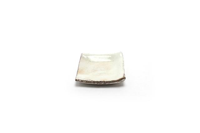 豆角皿 / ゆず粉引