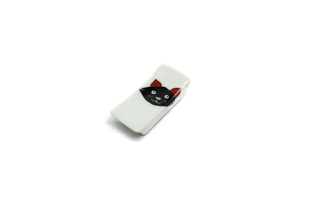 箸置 / 黒猫