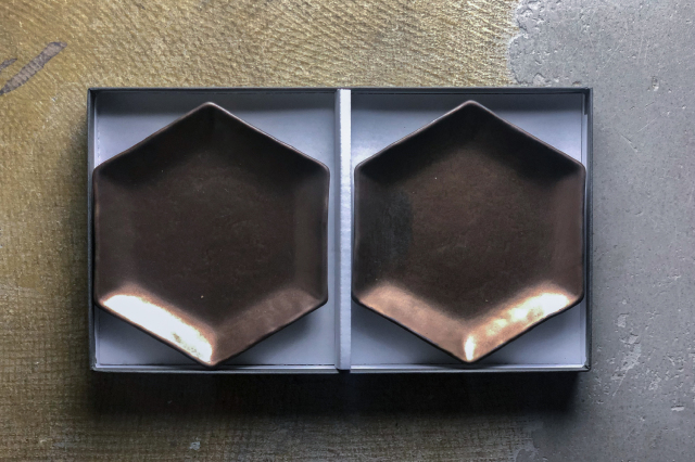 lanz m.m.d. / 取皿(ブロンズ) / 2枚セットギフトボックス&熨斗付き