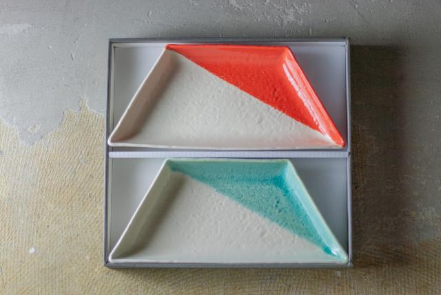 m.m.d. / 大皿2枚セット ギフトボックス&熨斗付き / true colors line / 瀬戸焼