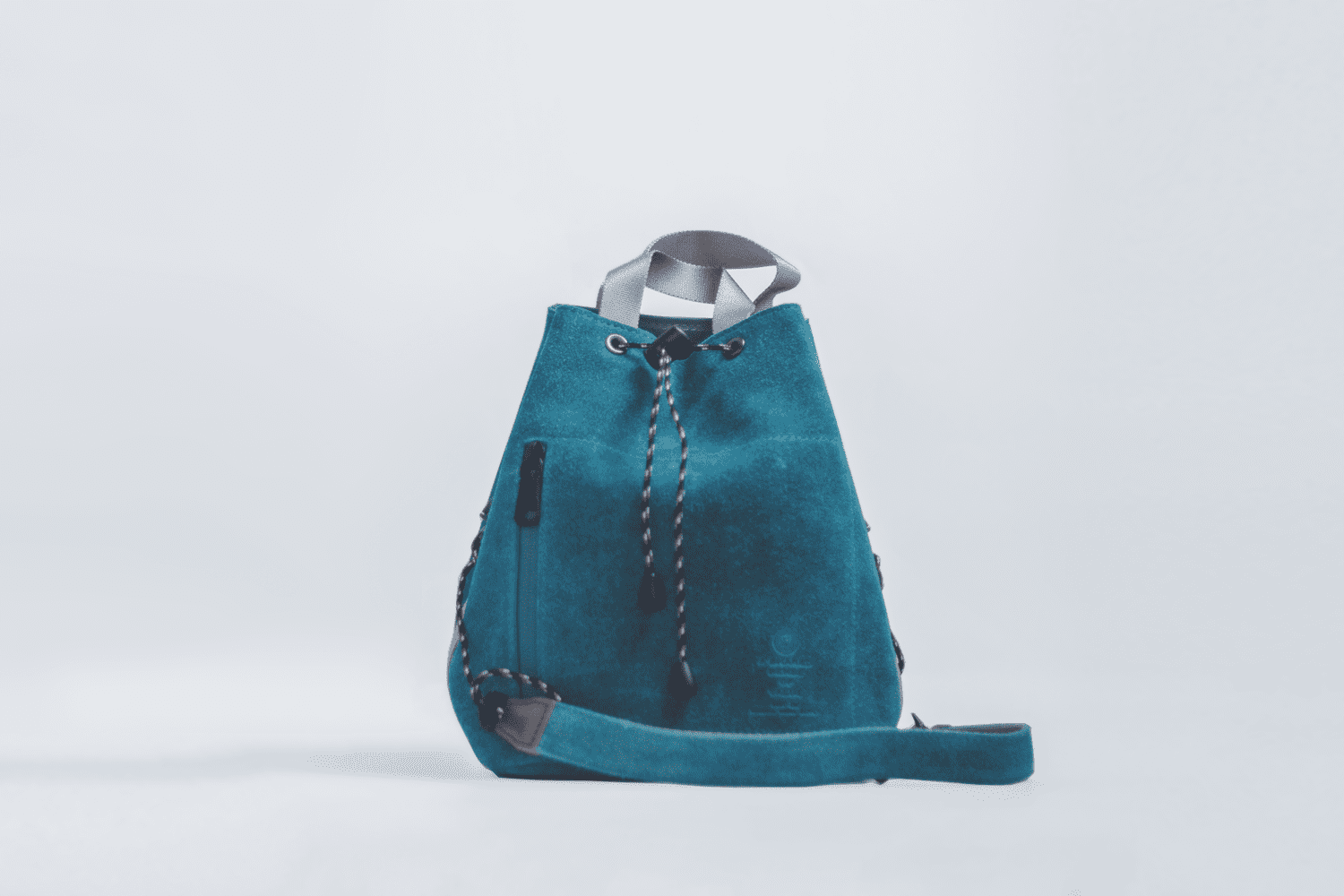 UNBY / SUEDE DRAW STRING BAG / ターコイズ