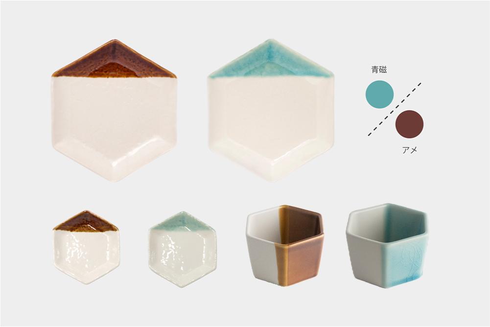 m.m.d. / 六角豆皿 + 小鉢 + 取皿セット / nostalgic