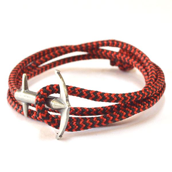 アンカーアンドクルー ANCHOR&CREW ロープブレスレット スターリングシルバー 925 ROPE BRACELET STERLING SILVER ADMIRAL RED