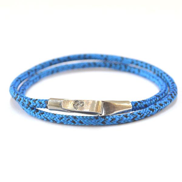 アンカーアンドクルー ANCHOR&CREW ロープブレスレット スターリングシルバー 925 ROPE BRACELET STERLING SILVER LIVERPOOL BLUE