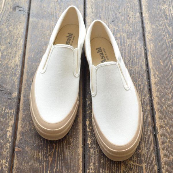 アサヒ Asahi スリッポン ASAHI DECK SLIP-ON M013 WHITE/BEIGE