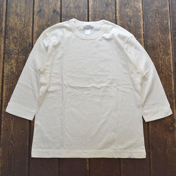 ベター BETTER ミディアムウェイト ラフィ天竺 7分袖 Tシャツ MEDIUM WEIGHT CREW NECK 3/4 SLEEVE T-SHIRT BTR1603T WHITE