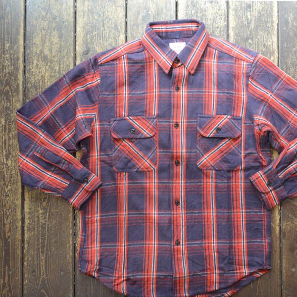 ビッグマイク BIG MIKE ヘビーフランネルシャツ HEAVY FLANNEL SHIRT NAVY/RED