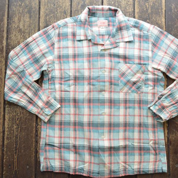 ビッグマイク BIG MIKE ライトフランネルオープンシャツ LIGHT FLANNEL OPEN SHIRT BLUE/PINK