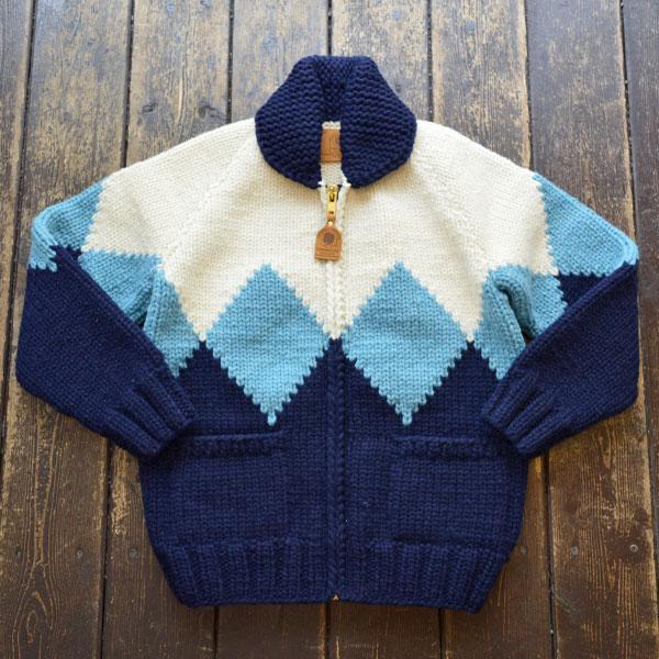 カナディアンセーター Canadian Sweater MALIBU別注 カウチンセーター  DIAMOND IVORY/SKY BLUE/INK